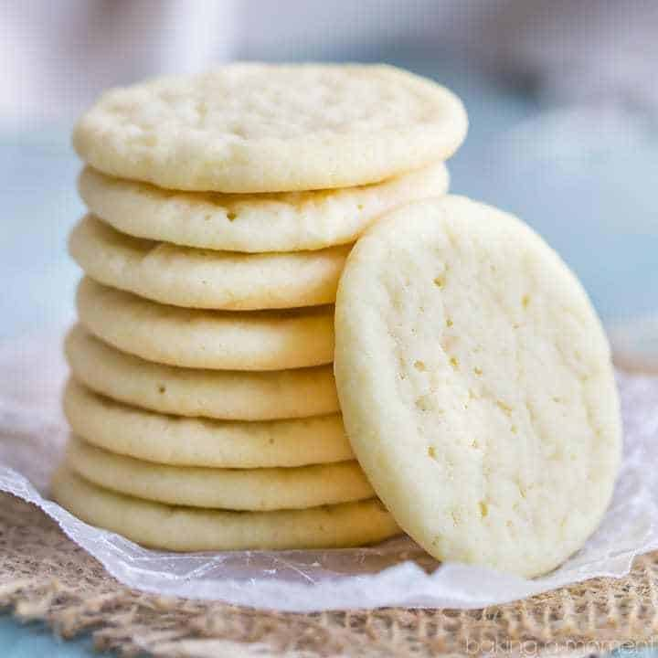 If you like soft and chewy sugar cookies, then this is the recipe for you!  Just thick enough, with a buttery richness and plenty of vanilla flavor.  These will be your new favorite!