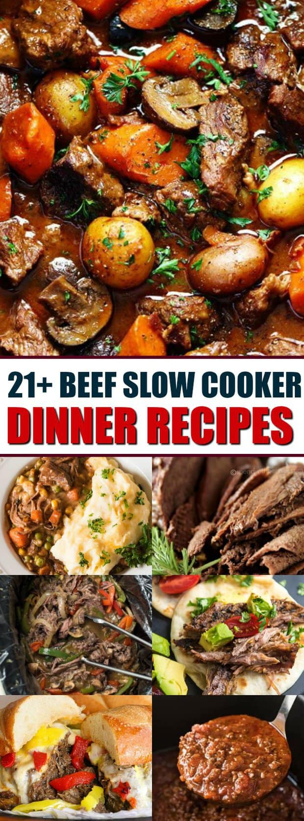 21+ Beef Slow Cooker Dinner Recipes