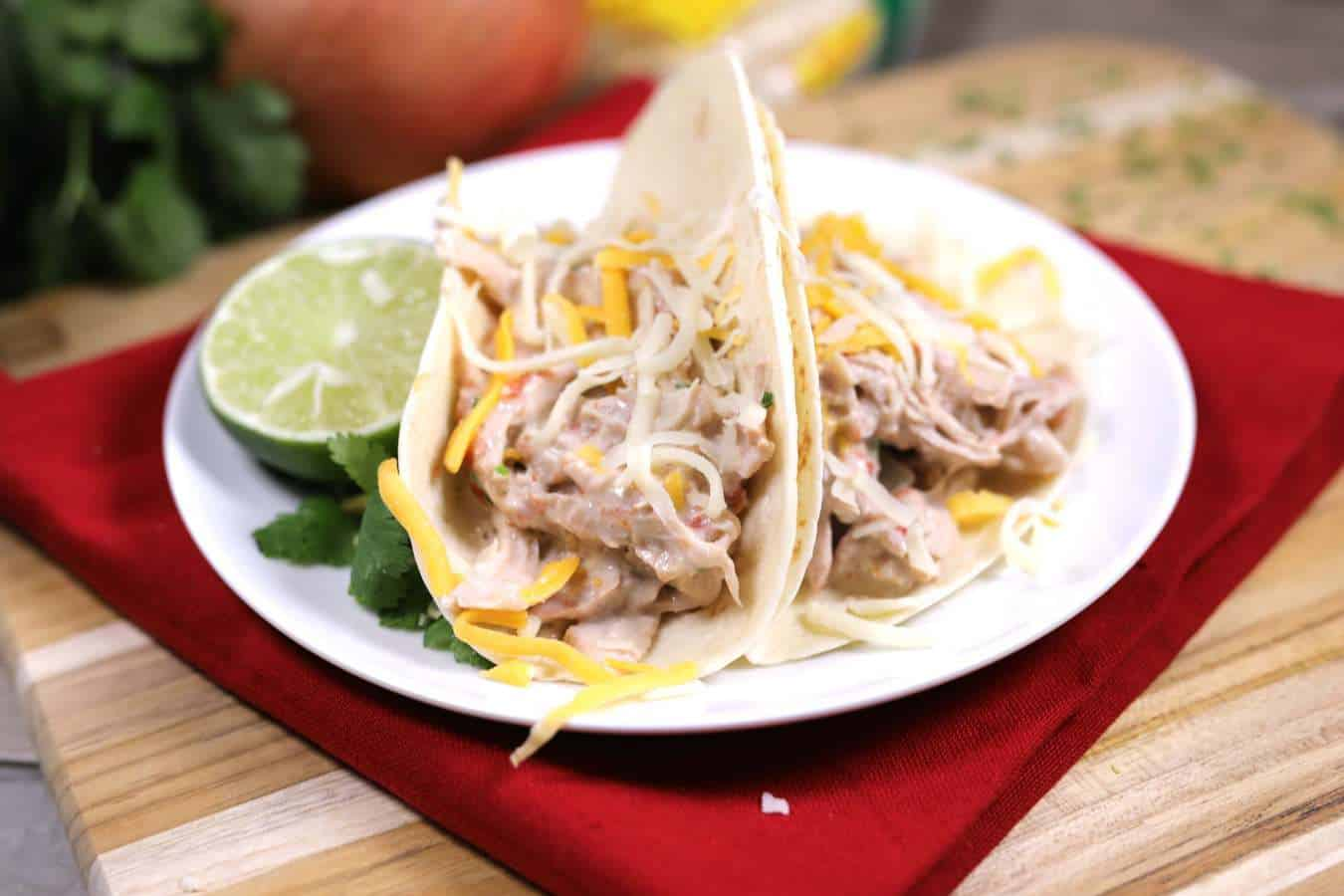 Slow Cooker Creamy Pork Tacos
