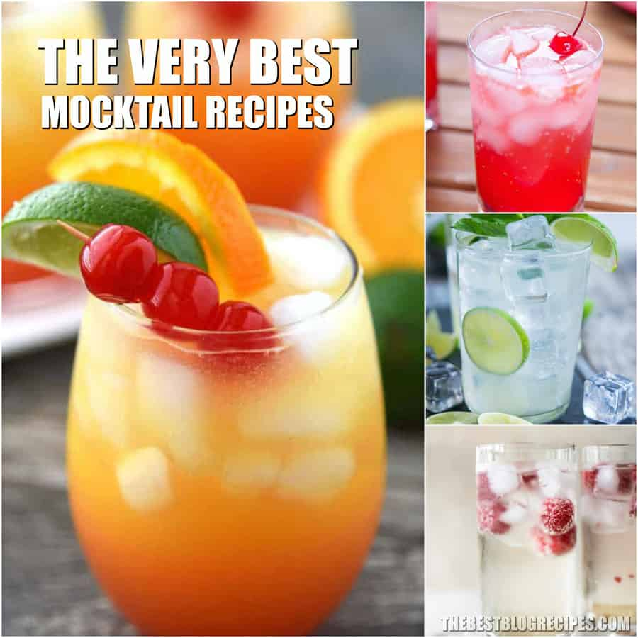 For lounging by the pool or entertaining friends you need the Best Mocktail Recipes! Perfect for when you want the flavor, but not the buzz.