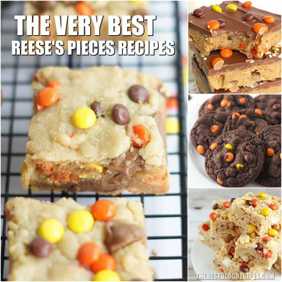 The Best Reese's Pieces Recipes are some of the most amazing recipes you will ever try. The combination of our favorite candy with traditional desserts is something that will never get old! Try these recipes when you need a no hassle dessert that everyone will love and adore!