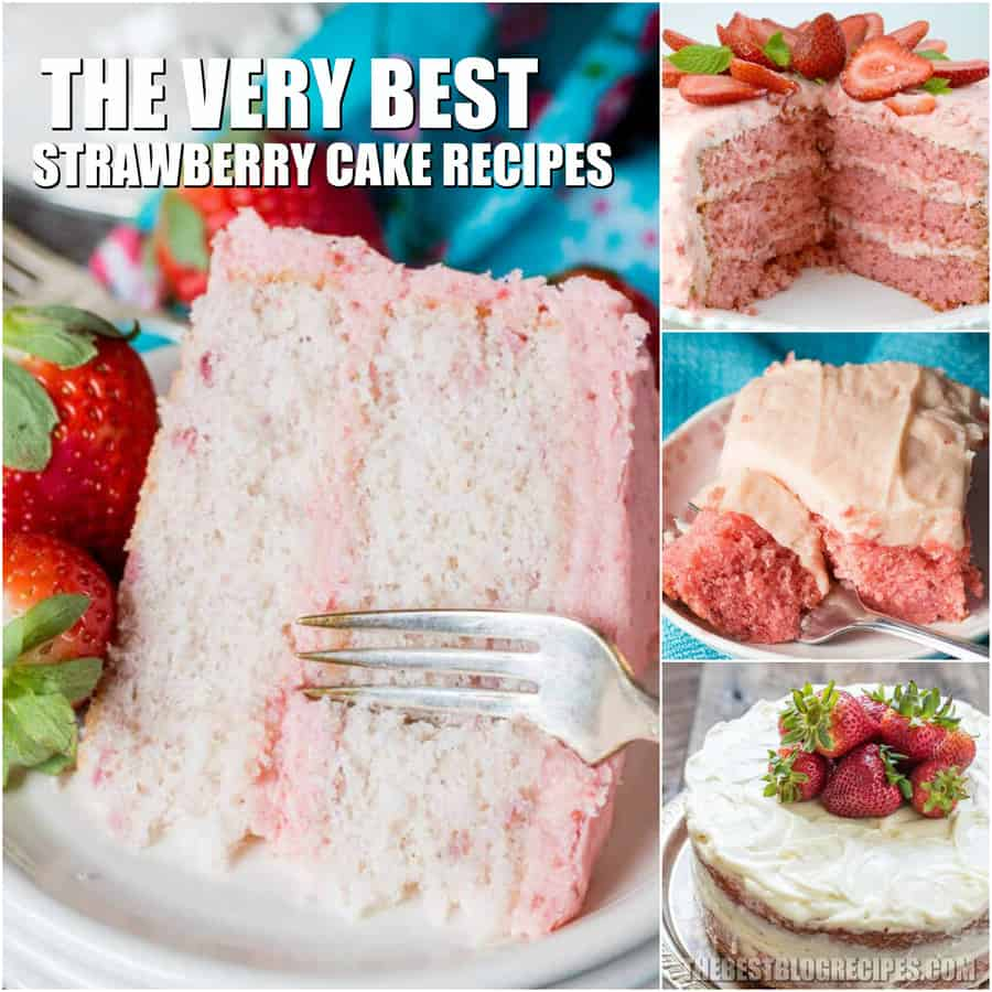 Easy Strawberry Cake Recipes are some of the best cakes out there. Between the fluffy cake and the sweet creamy frostings, you will be completely addicted.