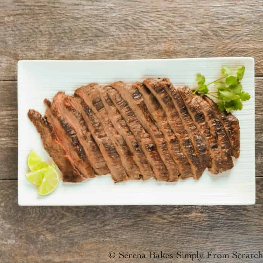 An Easy Dinner to barbecue or sear in a cast iron pan. Marinated Carne Asada is always a family favorite.