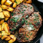 Skillet Garlic Butter Herb Steak and Potatoes--Part of The Best Steak Recipes