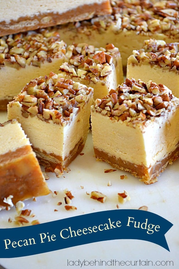 Unlike cheesecake which needs to be refrigerated, this fudge can be stored at room temperature. Which makes this the PERFECT travel safe treat! Off to Grandmas house you go! Armed with the BEST fudge EVER!