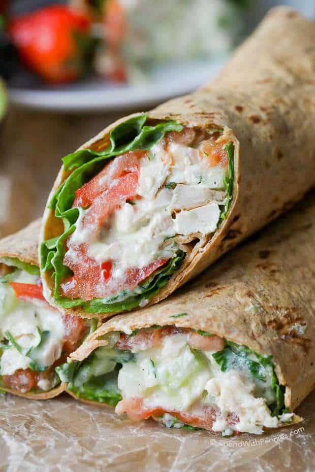Avocado Ranch Chicken Salad Wrap - The Best Blog Recipes