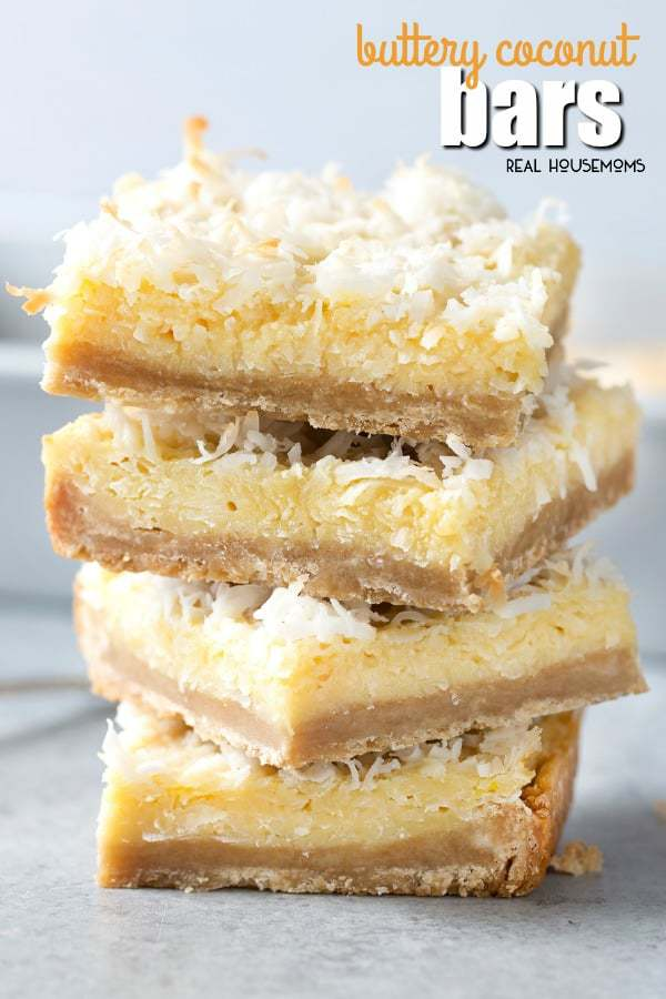 Buttery Coconut Bars--Part of The Best Dessert Bars