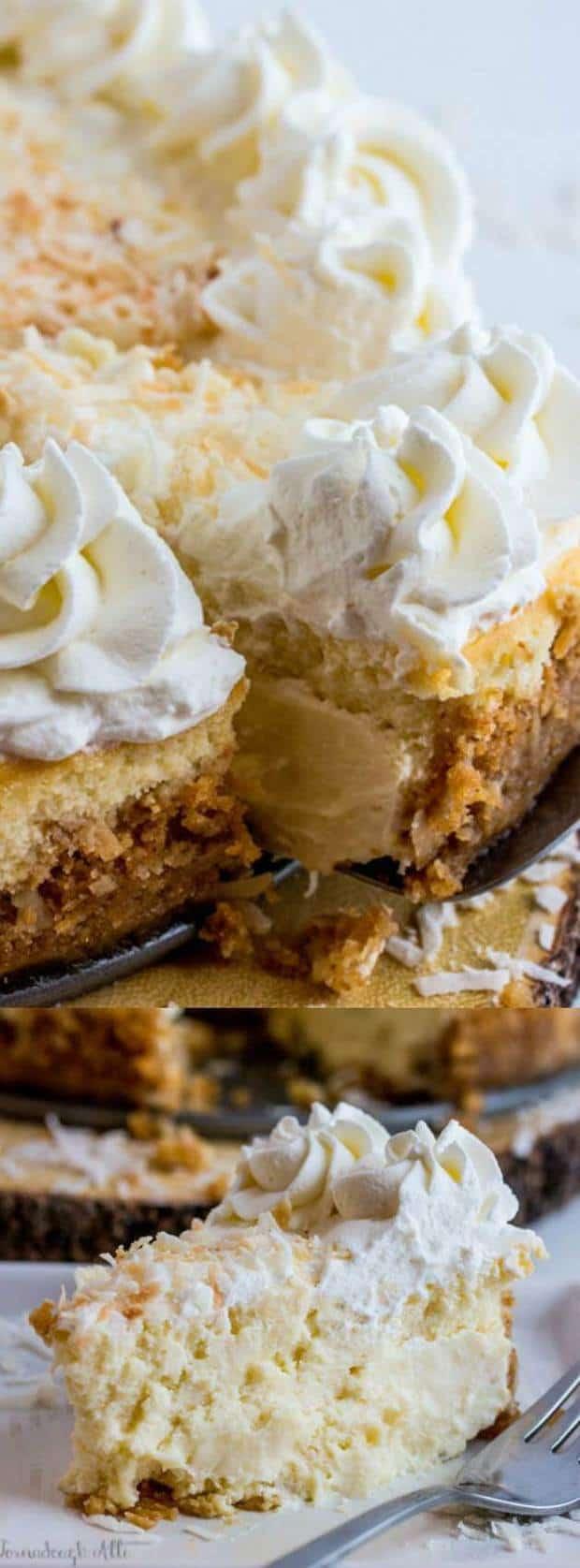 Coconut Cream Cheesecake Longpin