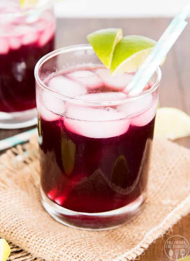 Grape Lime Rickey Mocktail