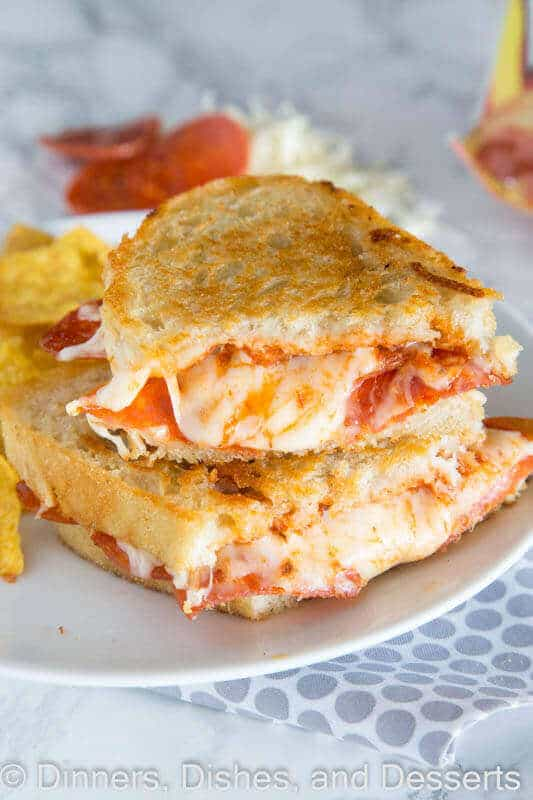Pepperoni Pizza Grilled Cheese Sandwich The Best Blog
