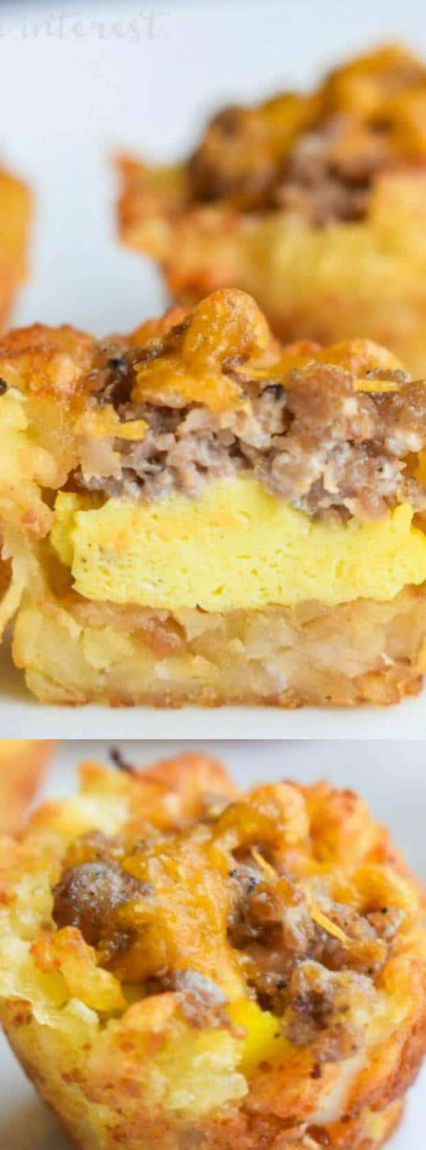 Sausage, Egg, and Cheese Breakfast Tots Longpin