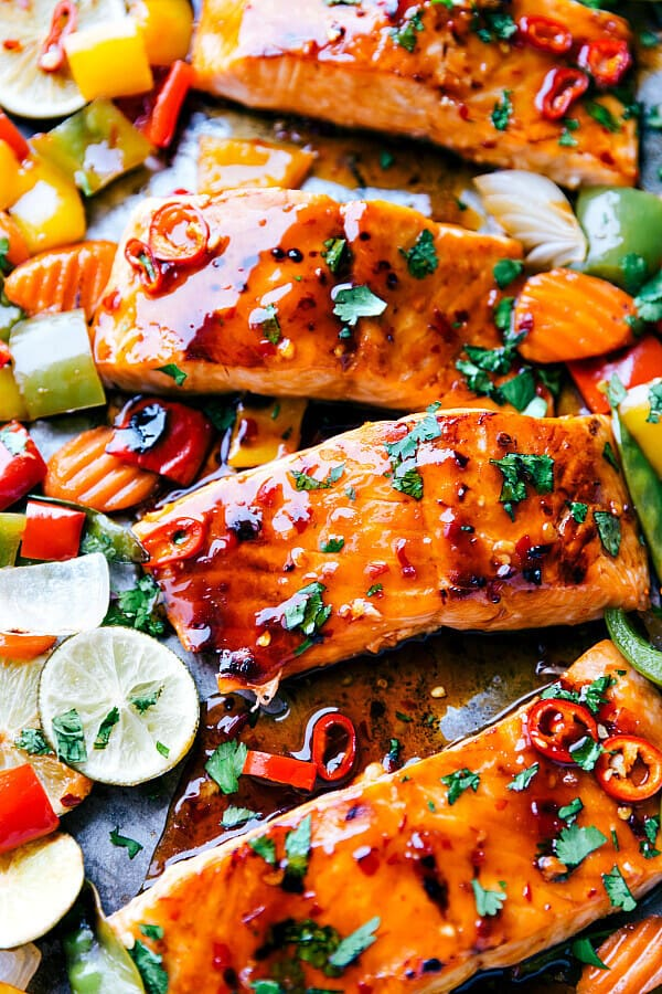 Sheet Pan Thai Glazed Salmon With Vegetables The Best
