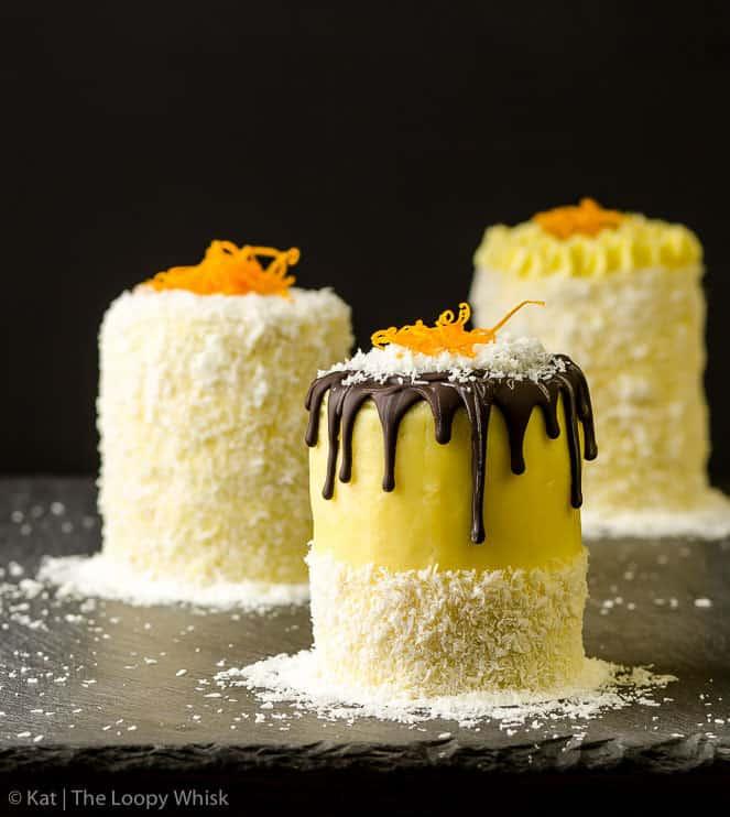 Coconut Orange Mini Cakes