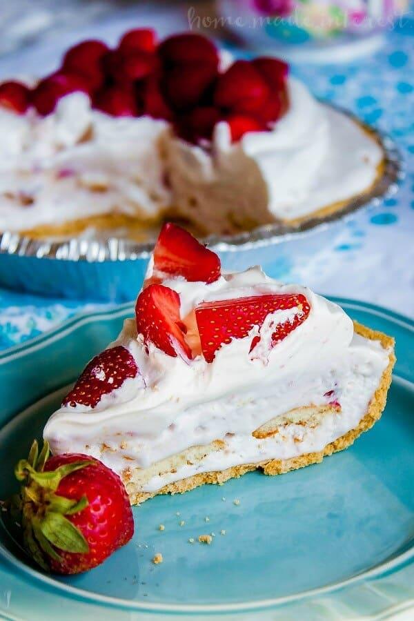Strawberries and Ice Cream Pie