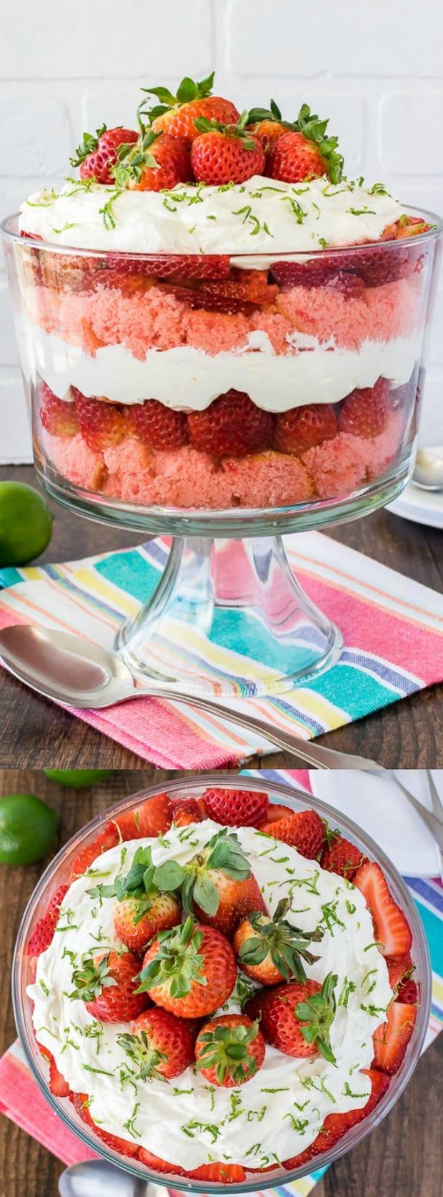 Strawberry Key Lime Cheesecake Trifle longpin