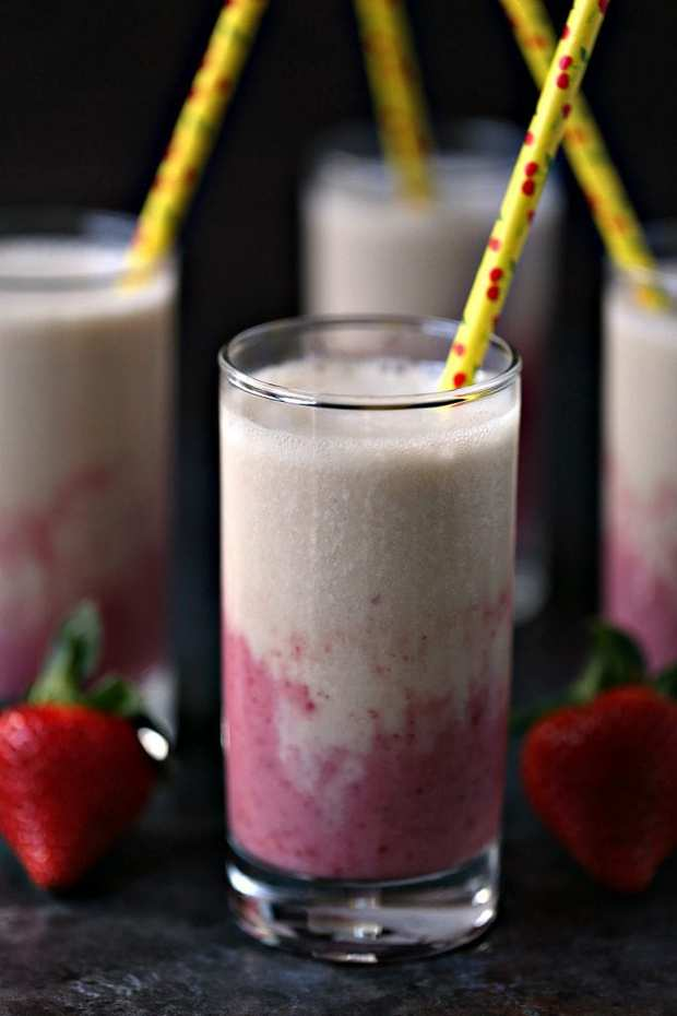 Strawberry Banana Smoothies are the perfect way to start your day. This quick and easy recipe has only 5 ingredients but packs a flavor punch.