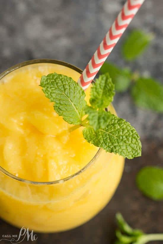 Tropical Mango Freeze is sweet, citrusy, refreshing and packed with vitamin C. This slushie drink hits the spot after a hard workout or just when you need a cool drink