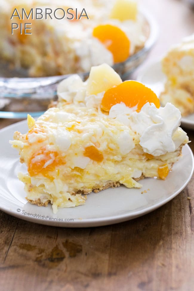 Ambrosia Pie The Best Blog Recipes