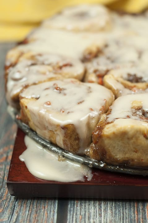 Carrot Cake Cinnamon Rolls with Mascarpone Icing