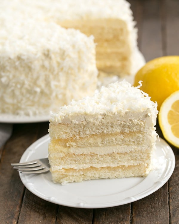 Lemon Layer Cake With Lemon Curd Filling