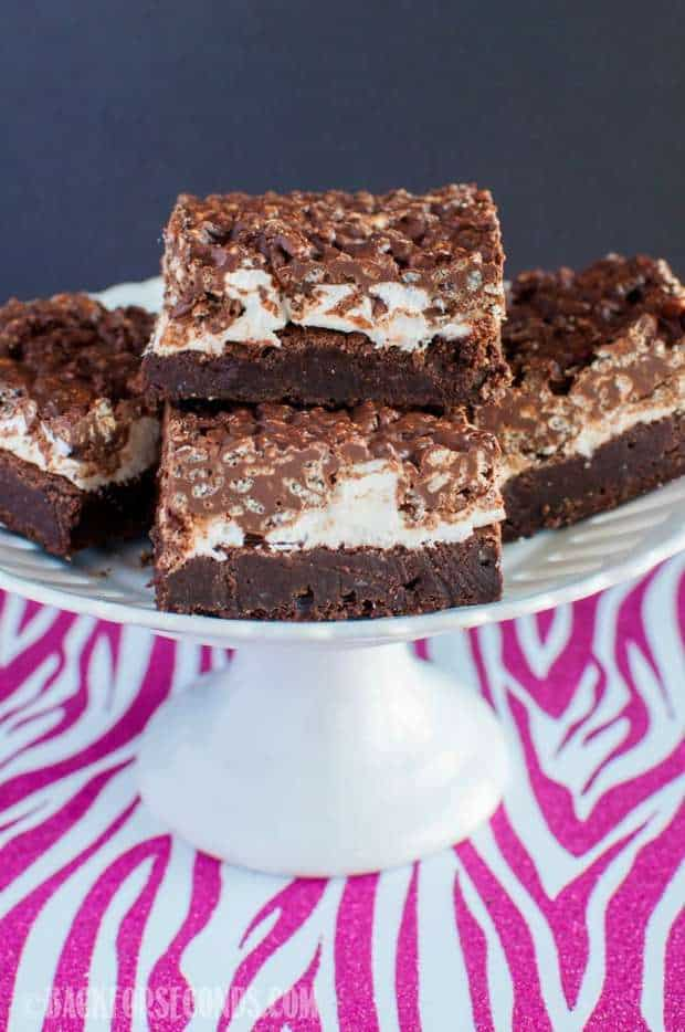 Marshmallow Fudge Crunch Brownies Recipe
