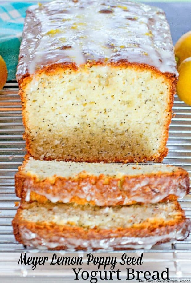 In late winter and early spring when Meyer lemons start hitting the produce shelves it's the perfect time to start dreaming of warmer weather and citrus laced Meyer Lemon Poppy Seed Yogurt Bread.