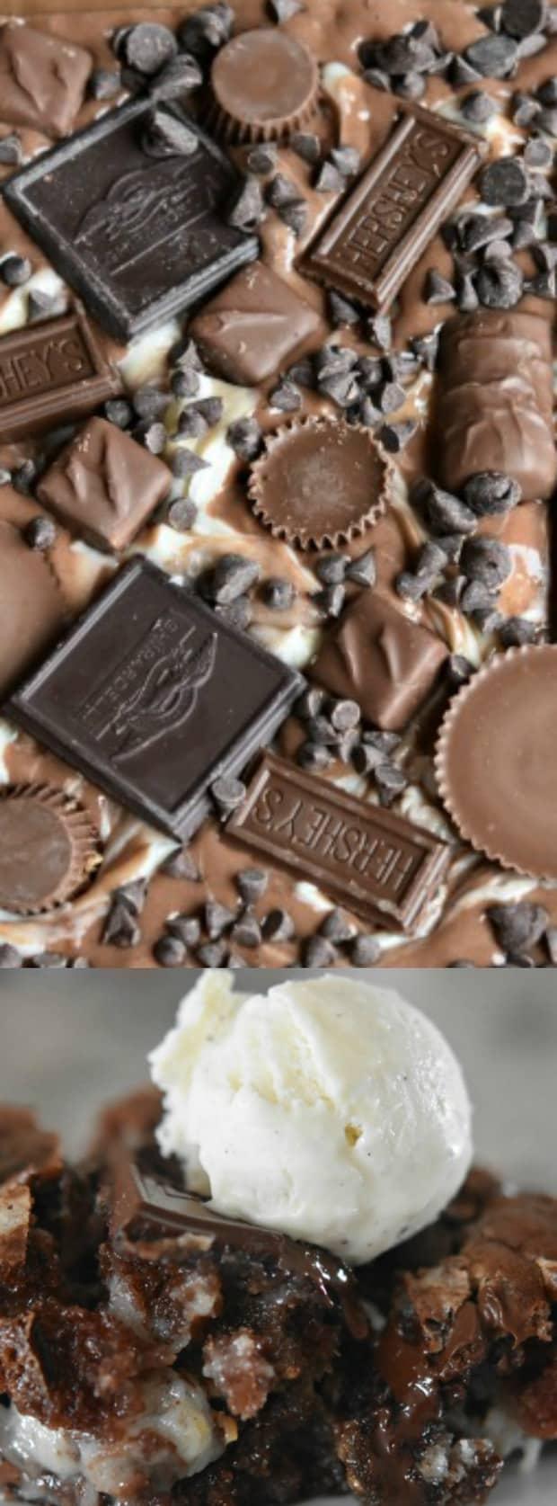 chocolate explosion earthquake cake with cream cheese swirl longpin