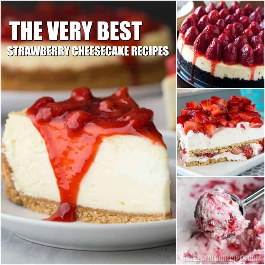 Easy Strawberry Cheesecake Recipes are perfect for any time of year. Creamy and sweet, they will have you falling in love with the classic favorite all over again!