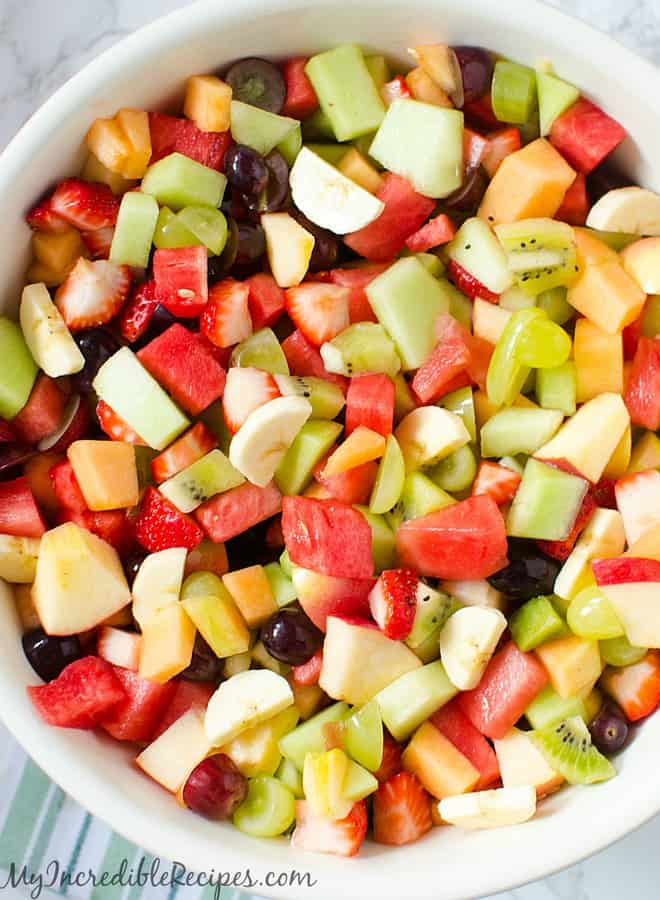 strawberry kiwi melon fruit salad