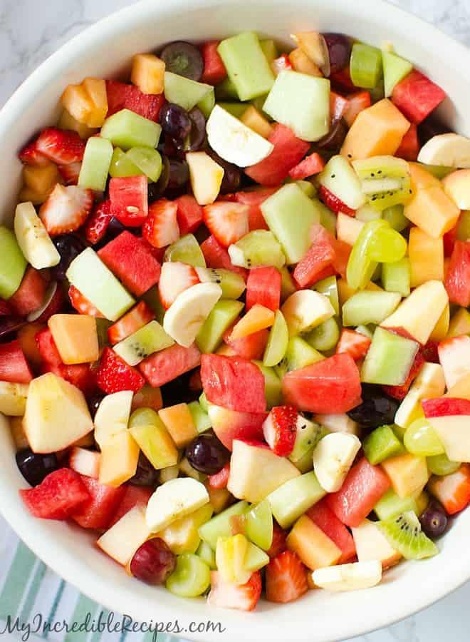 strawberry kiwi melon fruit salad