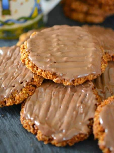 chocolate Coated Hobnob Biscuits