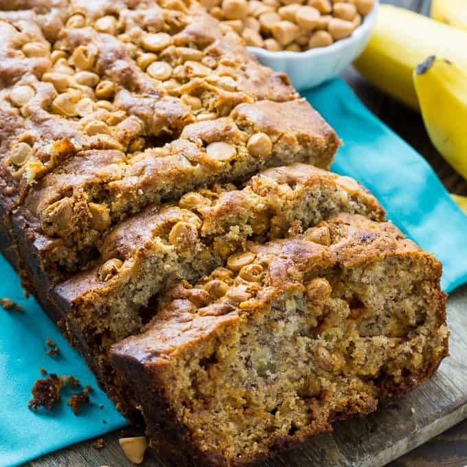 This Butterscotch Banana Bread is one of the most delicious banana breads. It's loaded with butterscotch morsels and the flavor of butterscotch really complements the banana flavor well. It's pretty much a match made in heaven!