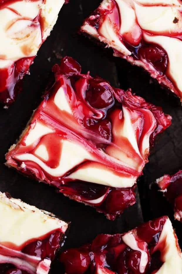 Cherry Cheesecake Brownies are rich and creamy and have three delicious desserts in one!
