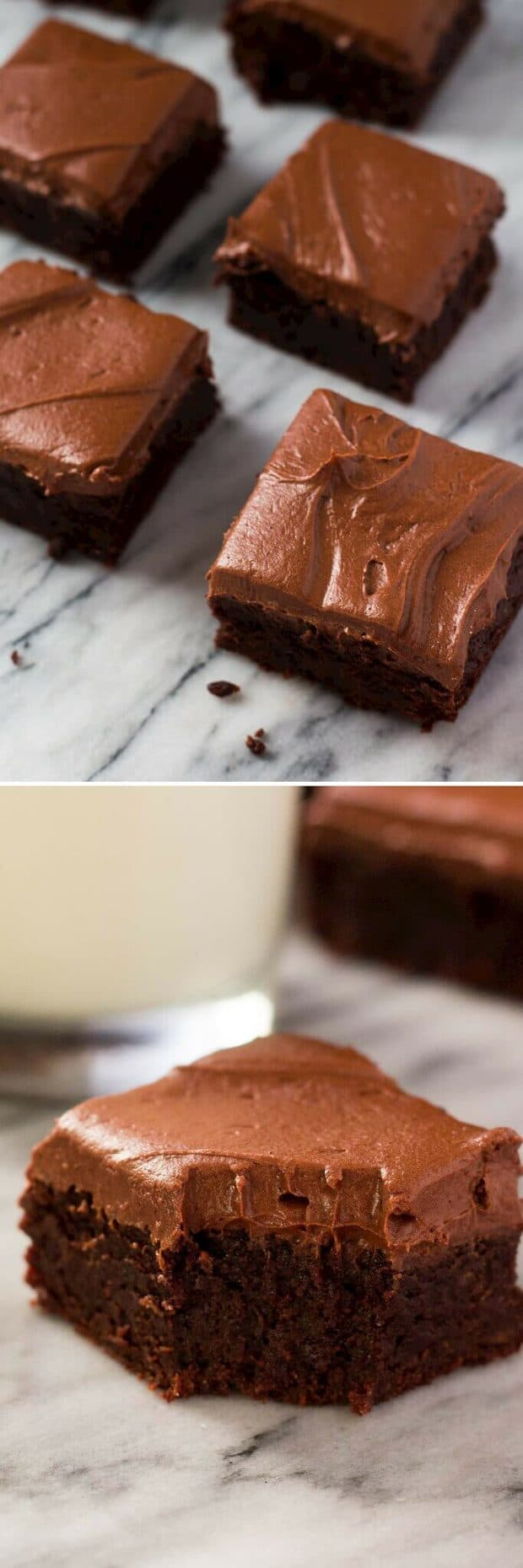 Fudge Brownies with Chocolate Frosting are super moist, super fudgy and slathered with a thick layer of cream cheese chocolate frosting – these brownies will be your new favorite.