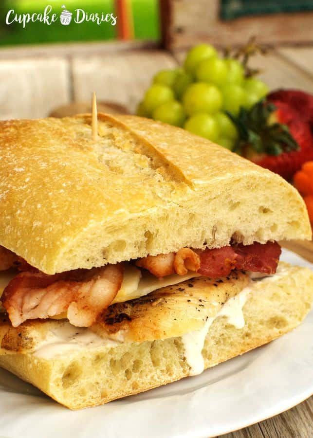 Chicken Bacon Ranch Sandwiches--Part of The Best Chicken Bacon Ranch Recipes