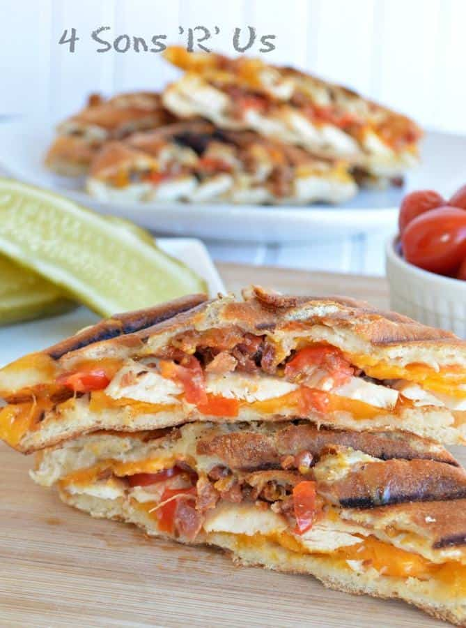 Chipotle Chicken Bacon Ranch Paninis--Part of The Best Chicken Bacon Ranch Recipes