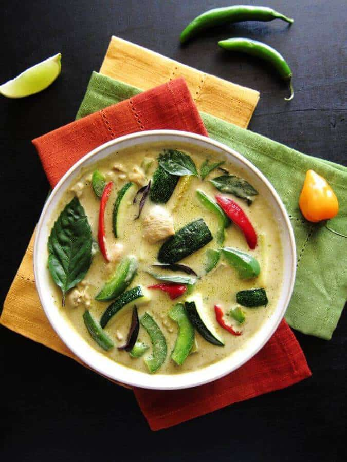 Instant Pot Thai Green Curry is a creamy coconut curry with the flavors of green chilies, Thai Basil, lime, coriander, and cumin. This spicy curry will rival your favorite Thai takeout green curry, but is so easy that it can be ready in less than 20 minutes.