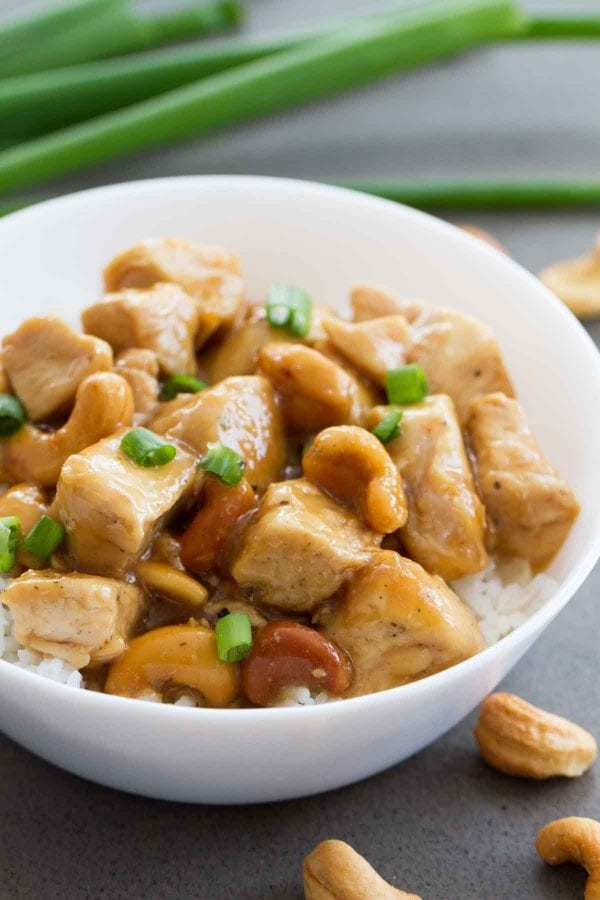 Fast, flavorful and perfect for a weeknight – this Pressure Cooker Cashew Chicken is the easiest way to skip the take out and make it yourself at home!
