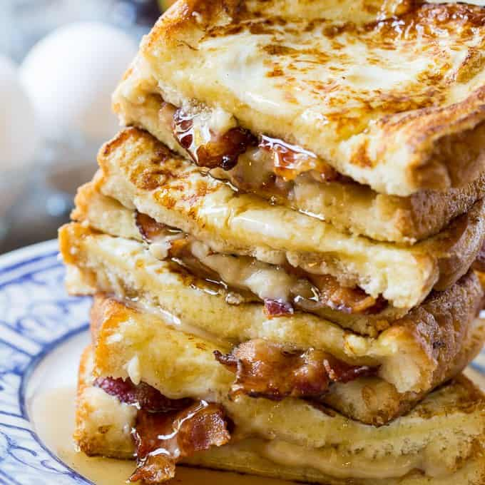 Bacon Stuffed French Toast is the ultimate sweet and savory breakfast. If you are of the belief that everything tastes better with bacon, you are going to love this recipe!