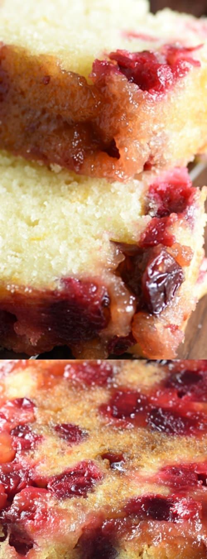 Cranberry Upside-Down Quick Bread