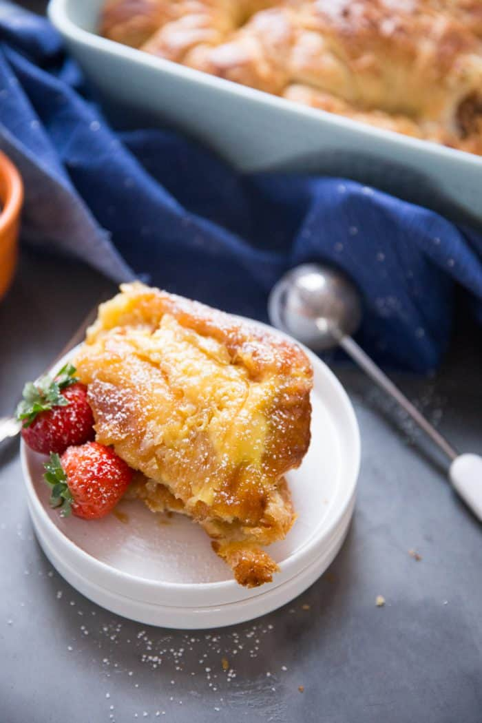 This Croissant French toast is a real treat; it's like dessert for breakfast!