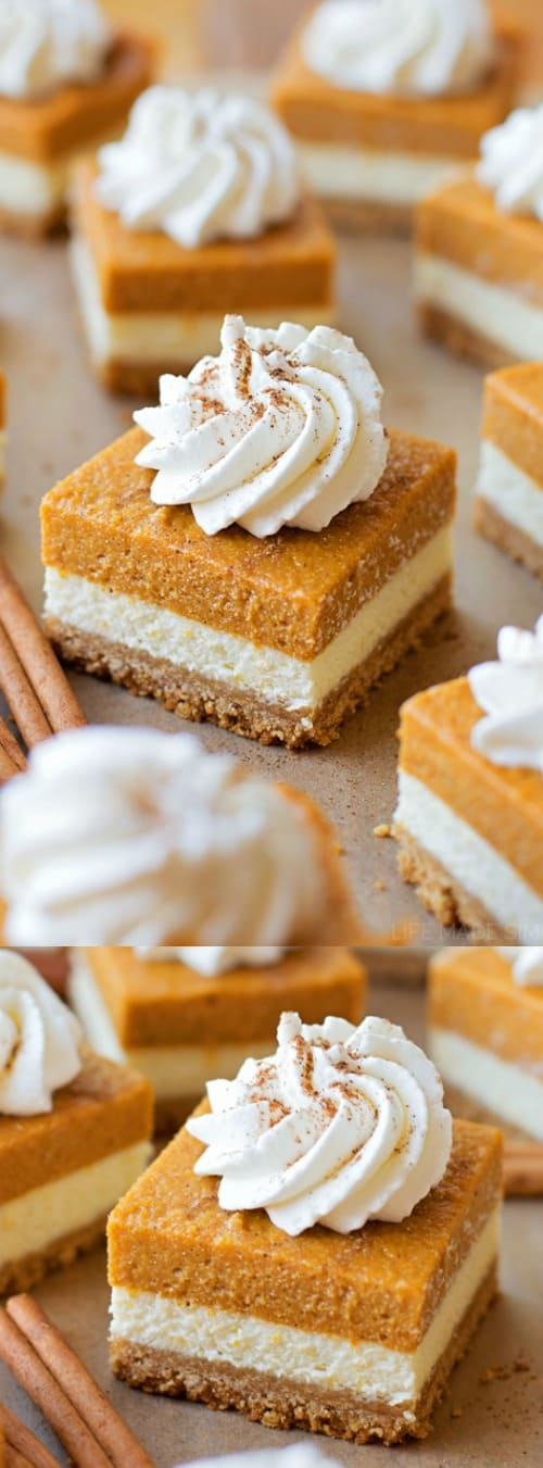 Layered Pumpkin Pie Cheesecake Bars Longpin