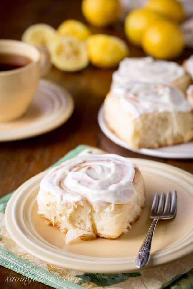Lemon Sweet Rolls With Lemon Cream Cheese Icing