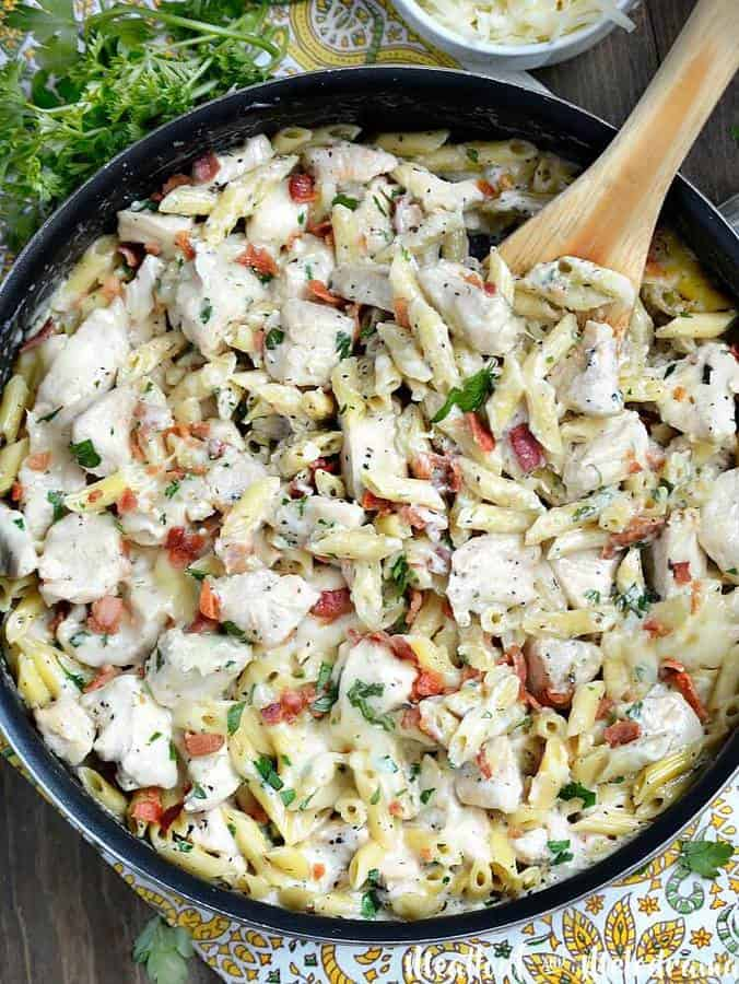 One Pot Chicken Bacon Ranch Pasta The Best Blog Recipes