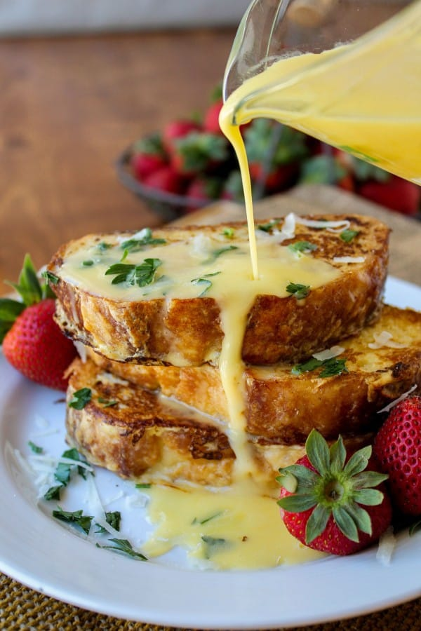 Savory French Toast will be a fun change for an easy morning!