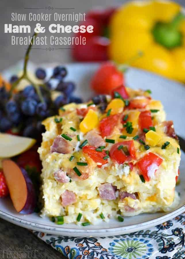 This casserole is perfect for busy weekday mornings or holiday brunch. Loaded with ham, cheese, potatoes, bell peppers, and more, it's a great way to start your day.