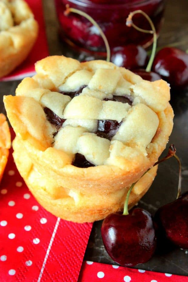 Cherry Pie Sugar Cookies -- Part of Fun and Festive Christmas Desserts