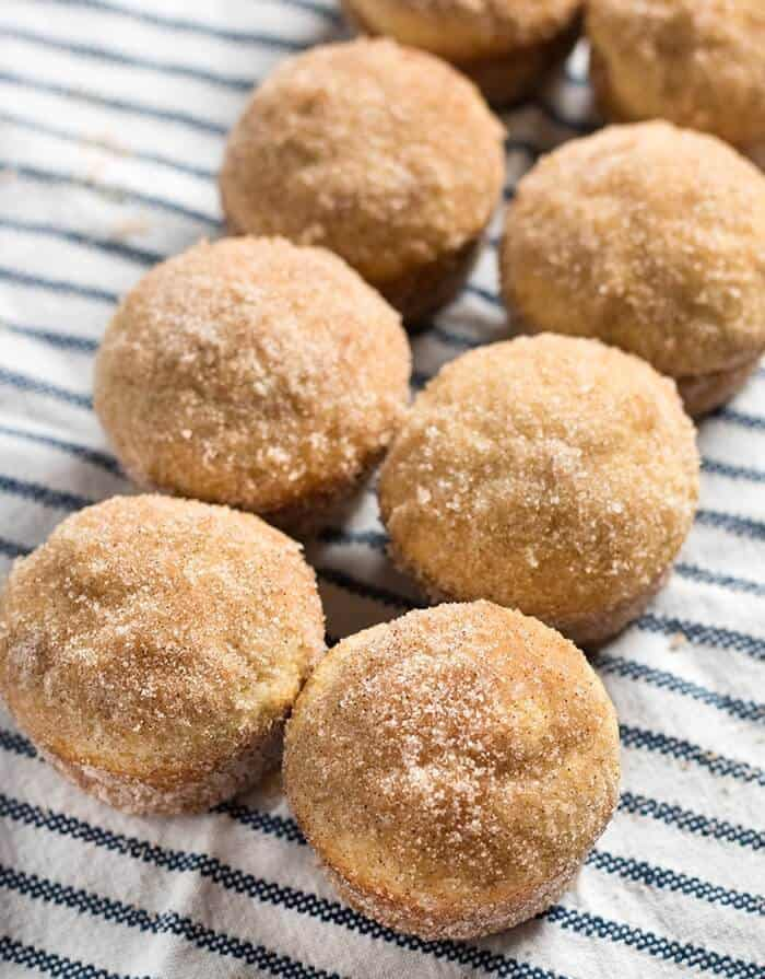 Cinnamon Sugar Donut Muffins – Donut muffins are a super soft, homemade muffins that are easy to make! These buttery treats taste just like an old fashioned donut rolled in cinnamon and sugar!