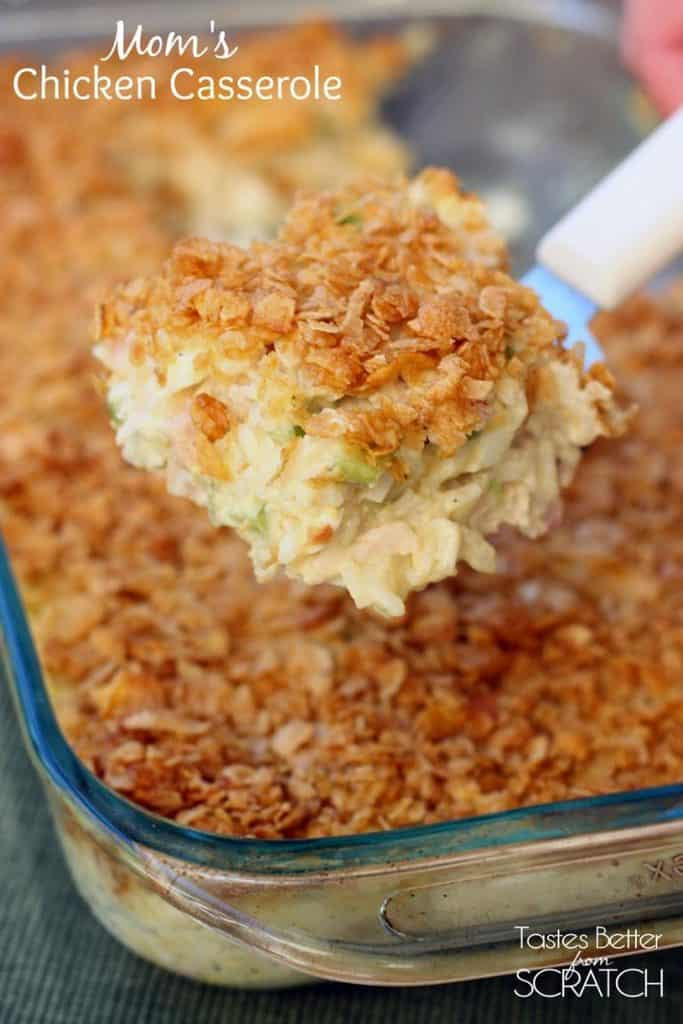 Mom's classic Chicken Casserole recipe is warm comfort food that your whole family will love!