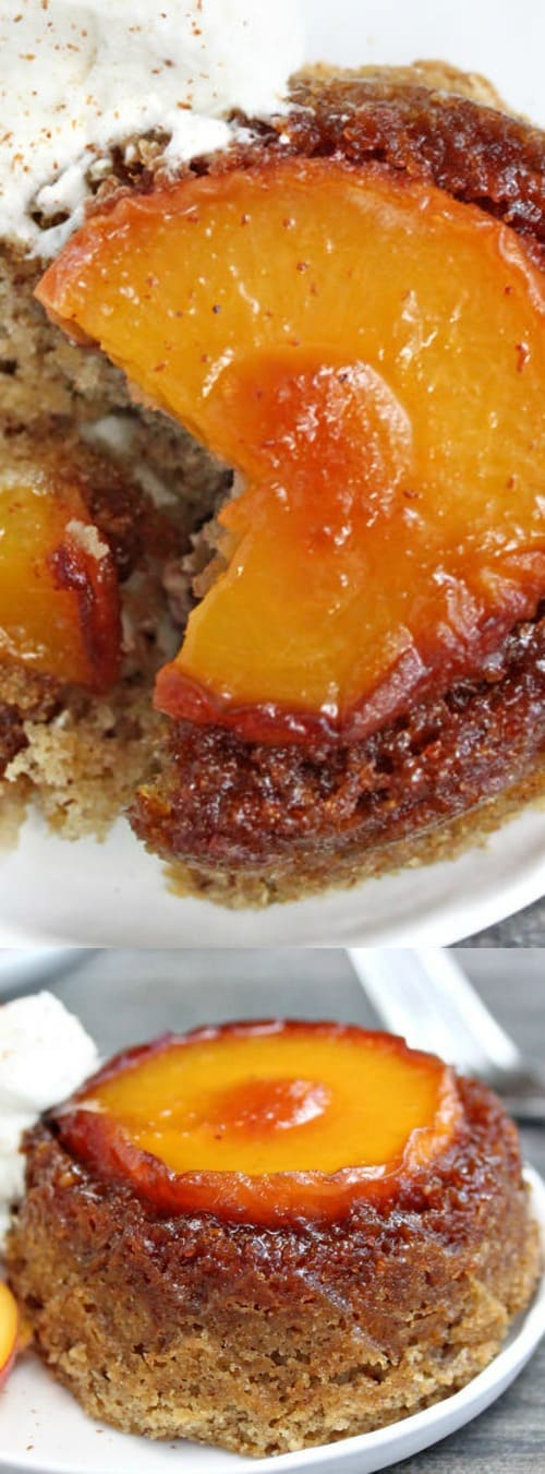 Peach Upside-Down Cakes